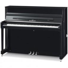 Kawai Klavier K200 schwarz mit Silber Hardware