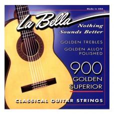 Saitensatz für Konzertgitarre La Bella - gold/schw
