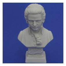 Komponisten-Büste Mozart weiß, Höhe 11 cm