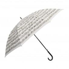 Regenschirm gross, Notenzeilen, sehr stabil, 120 cm Stockschirm