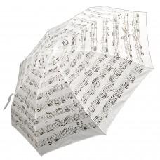 Regenschirm klein, weiss mit Noten