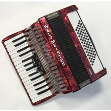 Weltmeister Piano Akkordeon Rubin 30/60/II/3 in rot