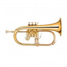 Bb Flügelhorn, Mundrohr aus Goldmessing
