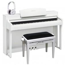 Yamaha E-Piano CSP-150 weiss matt im Set mit Yamaha Kopfhörern