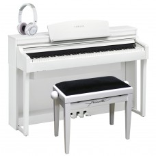 Yamaha E-Piano CSP-170 weiss matt, Set mit Bank und Kopfhörer