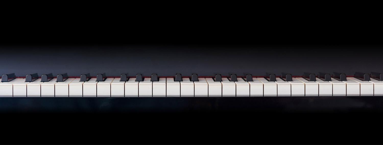 Klaviatur in Frontansicht im Pianelli Klaviere Ratgeber