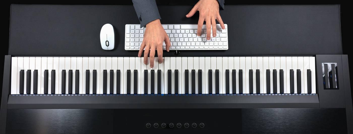 Elektronisches Klavier von oben im Pianelli E-Piano Ratgeber
