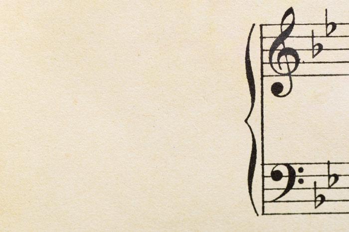 Violinen- und Bassschlüssel im Notensystem